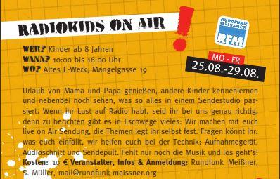 Ferienspiele Programm RadioKids